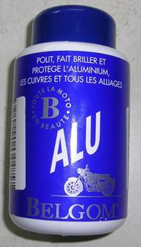 Belgom alu lustreur, lustrant, polit, fait briller et protègre l'aluminium, les cuivres et tous les alliages